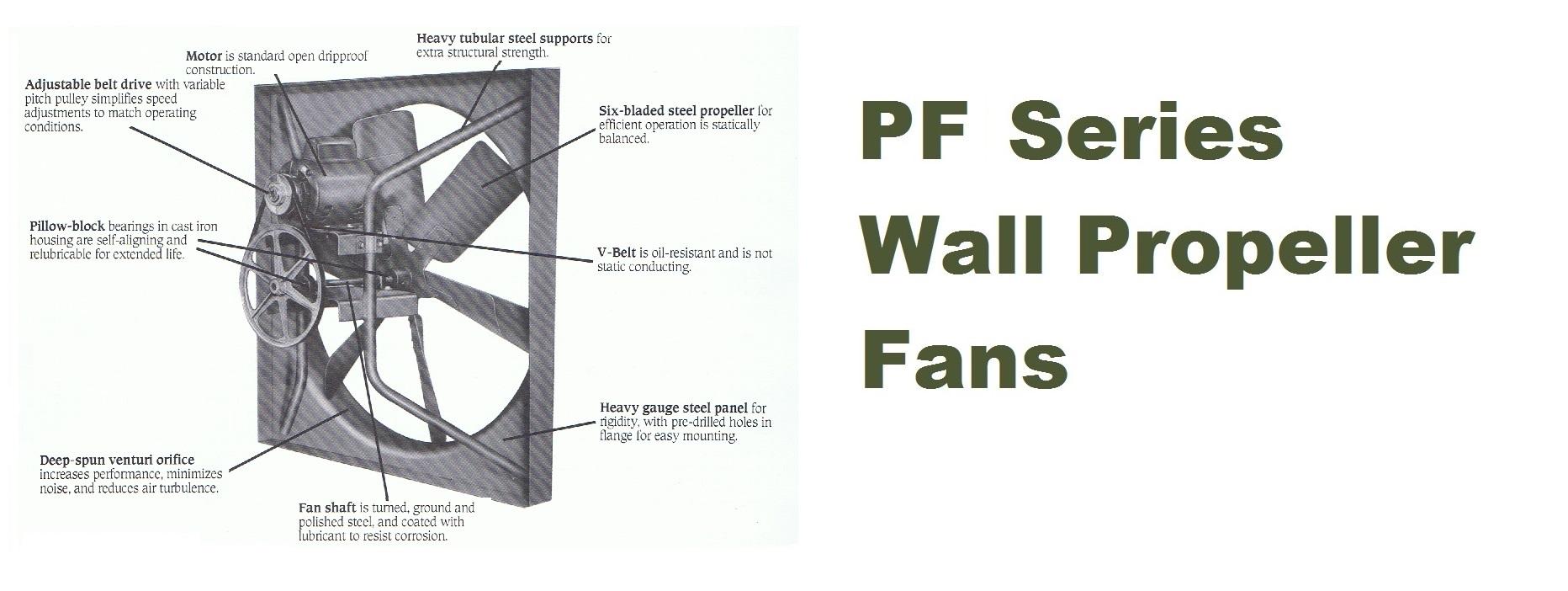 Pf Ilg Belt Drive Propeller Wall Exhaust Fans